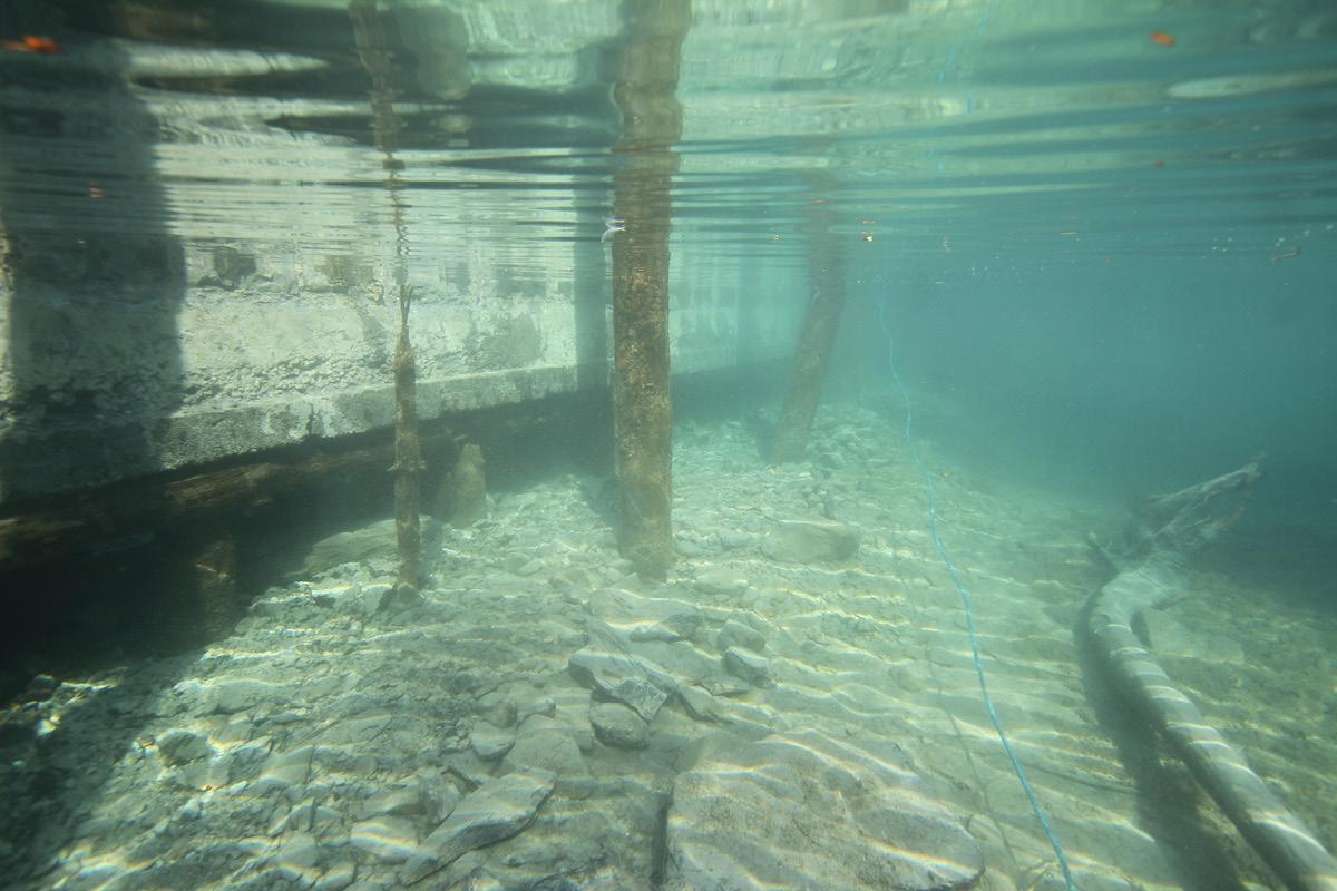 Sea wall before renovation