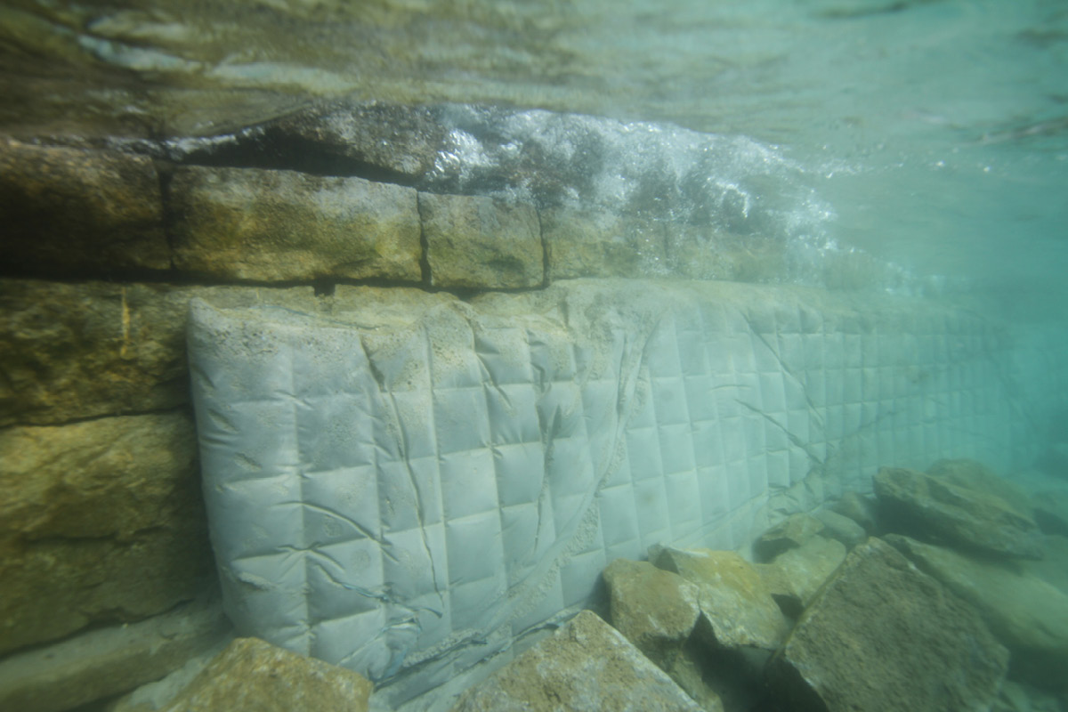 Sea wall after renovation